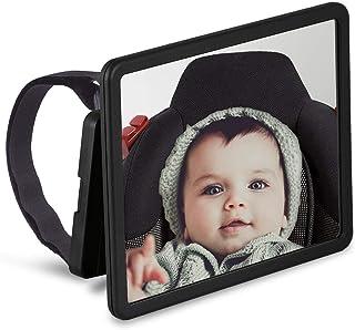 Wicked Chili schwenkbarer Babyspiegel für Auto Kopfstützen, KFZ Baby Rücksitzspiegel,..