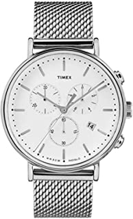 Timex Unisex Fairfield Chrono Mesh Silver/White One Size