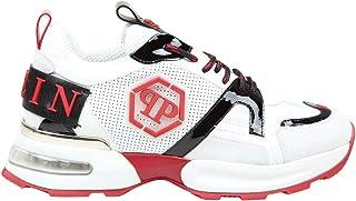 PHILIPP PLEIN Luxury Fashion Uomo MSC2868PXV001N0113 Bianco Pelle Sneakers   Autunno-Inverno 20