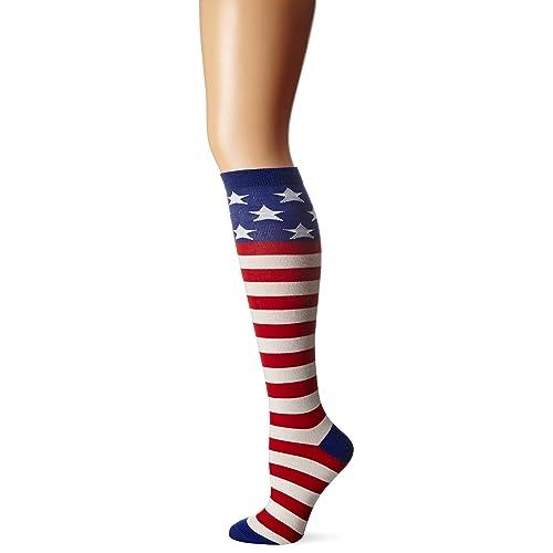 31b18da2261 K. Bell Women s American Flag Knee High
