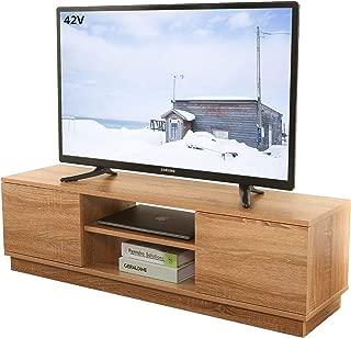 WLIVE テレビ台 AVボード ローテレビ台 ロータイプ 脚なし 扉付き 30kgのしっかり耐荷重 47インチまで対応 大容量収納 幅110*30*32cm おしゃれ オーク WF0051B