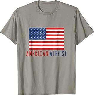 American Atheist Shirt USA Atheism tee shirts