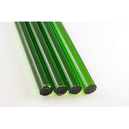 10 Transparent Teal 8mm Borosilicate 12 Tubing Devardi Glass COE 33 Boro Tubes