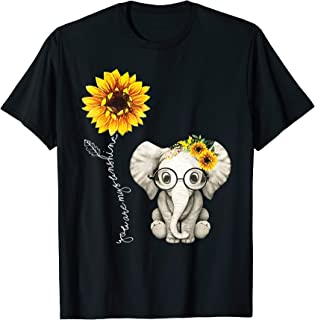You Are My Sunshine Hippie Sunflower Elephant Gift Friend T-Shirt