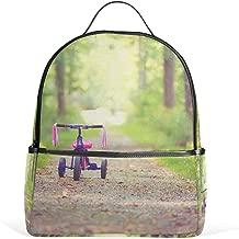 Backpack Mood Bike Children's Pink Tree Womens Laptop Backpacks School Hiking Travel Daypack