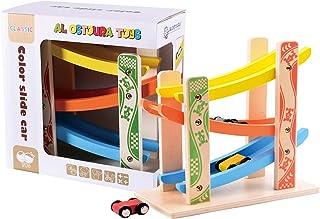 ألعاب الاسطورة سيارات منزلقة على مزالج جانبية - لعبة خشبية تعليمية لجميع الأعمار