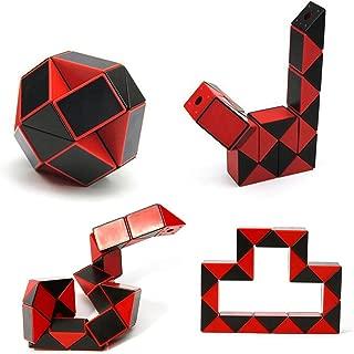 LIKIQ Speed Cube Magic Snake Red Ruler Brain Teaser Skew Toy