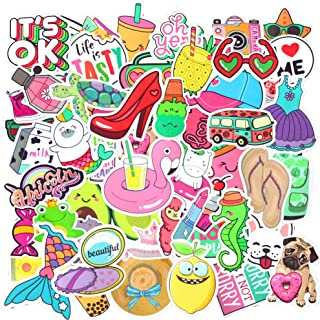 Cute Vinyl Stickers Pack Waterproof for Laptop 50Pcs,Lovely Sticker Decals for Teen Girls,Computer,Skateboard, Luggage,[Not Random]