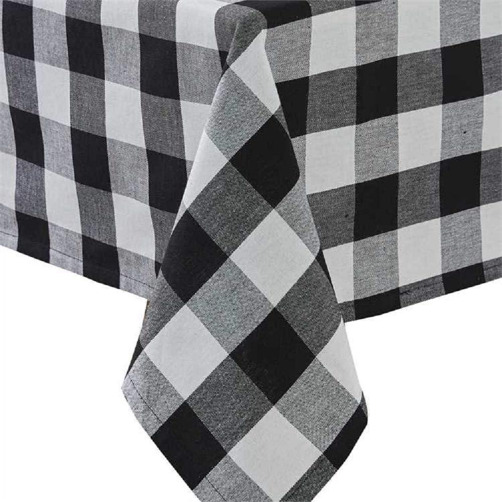 Park 贈答 Designs Wicklow Check Black Cream and 売店 Tablecloth