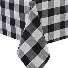Park Designs Wicklow Check Tablecloth, Black and Cream
