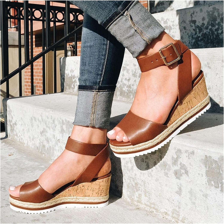 Sandals Summer Wedges Women's Heeled 35% OFF high Super-cheap Shoes f