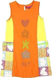 Girl's Symbols Sleeveless Dress, Sizes 4-12