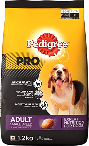 Pedigree PRO Expert Nutrition Adult Small Breed Dogs (9 Months Onwards) Dry Dog Food, 1.2kg Pack