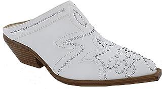 حذاء نسائي ناعم من Penny Loves Kenny من جلد صناعي باللون الأبيض مقاس 10 عرض (D) US