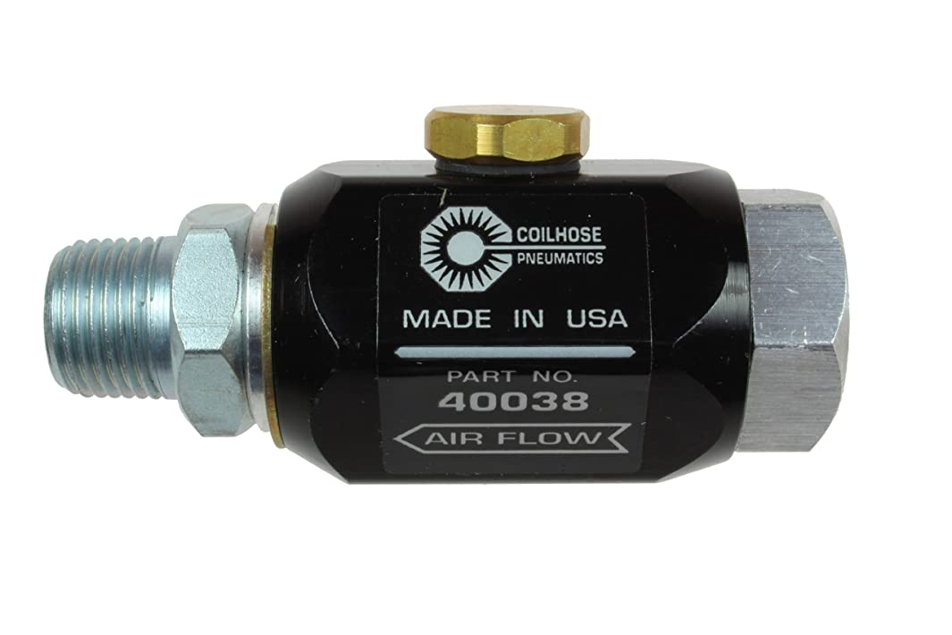 Coilhose Pneumatics 40038 In-Line Lubricator, 3/8-Inch Pipe Size, 5.0 Cubic Centimeter Lubricant Capacity