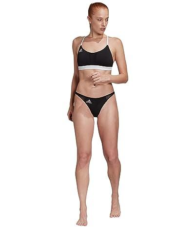 adidas Sporty Bikini Bottoms Swimwear (Black/White) Women