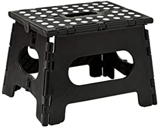 Folding Step Stool, Lightweight Sturdy Support Max 200lb, Open Easy One Flip Great for Kitchen, Bathroom, Bedroom, Kids or...