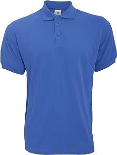 B&C Safran Mens Polo Shirt / Mens Short Sleeve Polo Shirts (3XL) (Royal)
