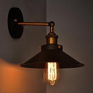 Apliques De Pared Vintage, ONEVER Estilo Retro Industrial, Apliques De Pared Vintage Lámpara De Pared Vintage Industrial Edison Luz E27 Iluminación