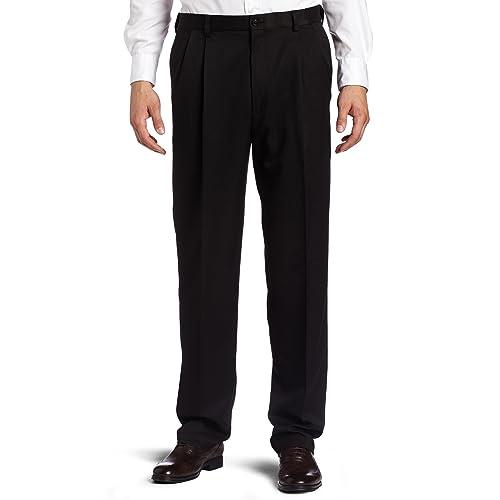 Haggar Men/'s Big /& Tall Premium Stretch Solid Expa Choose SZ//color