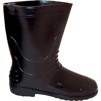 WI Hillson Chota Hathi Safety Gumboots (Color -Black, Size-9)