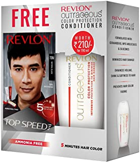 REVLON Top Speed Hair Color Man, Natural Black 70M