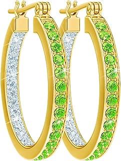 birthstone cross earrings