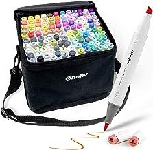 Ohuhu Markers Brush Tip, Alcohol Art Marker Set for Kids Adults Coloring Illustration, Artist Alcohol-Based Brush Markers,...