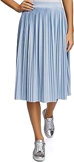 Ultra Women's Lurex Pleated Midi Skirt