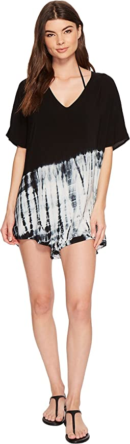 76140dfca7e20 Volcom lost sea romper cover up, Black | Shipped Free at Zappos