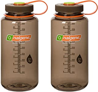 Nalgene 32 Ounce (32oz) Wide Mouth (WM) Sport Hydration Water Bottles - Set of 2