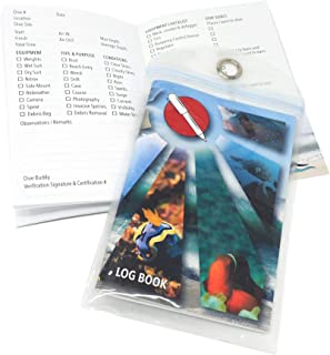 Travel-Friendly Scuba Dive Log Book (4 x 6 inch) with Protective Sleeve