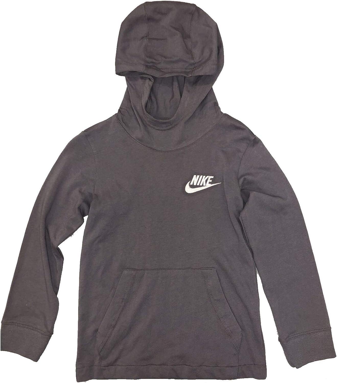 Nike Boy's Lightweight Pullover Hoodie Gunsmoke Grey AQ9415-027