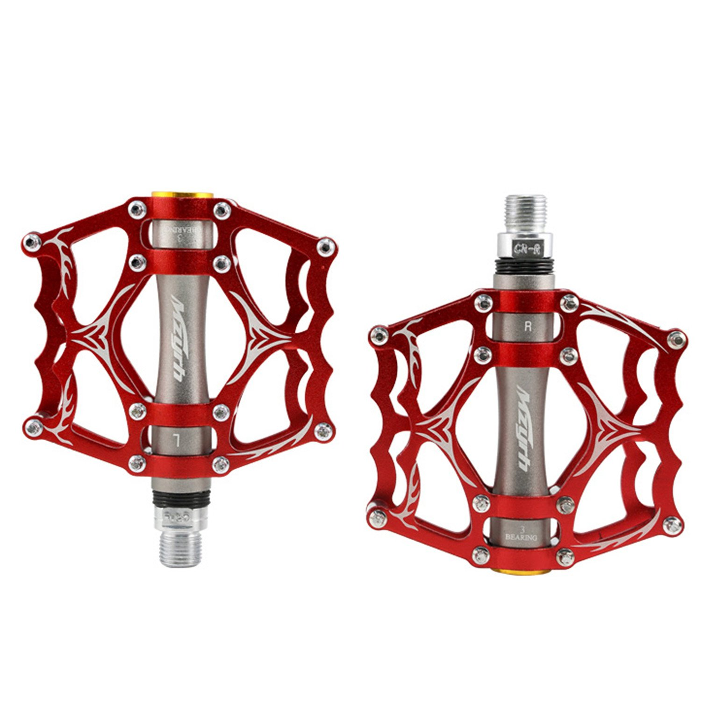 【Jpfashioning】クロスバイクペダル 超軽量 アルミ合金 フラットペダル 耐久性よい 2個セット