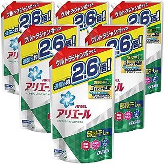 【ケース販売】 アリエール 洗濯洗剤 液体 部屋干し用 リビングドライイオンパワージェル 詰め替え ウルトラジャンボ 1.90kg×6個