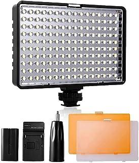 SAMTIAN Luz de Video LED Yeeteem TL-160S Panel de Luz LED Regulable de 160 Piezas Antorcha Led Lámpara de Videocámara para Canon Nikon Pentax Panasonic Sony Samsung y Olympus Digital DSLR