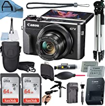 $654 » Canon PowerShot G7 X Mark II Digital Camera 20.1MP Sensor with 2 Pack SanDisk 64GB Memory Card, Case, Full Size Tripod and...