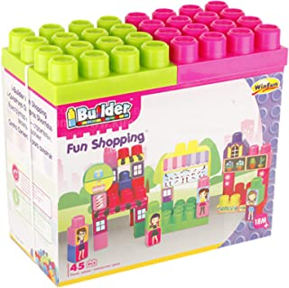 Win Fun Ibuilder Shopping Set, 45 Pieces