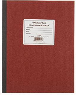National Brand : Computation Book, Quadrille Rule, 9-1/4 x 11-3/4, Green, 75 Sheets per Pad -:- Sold as 2 Packs of - 1 - / - Total of 2 Each