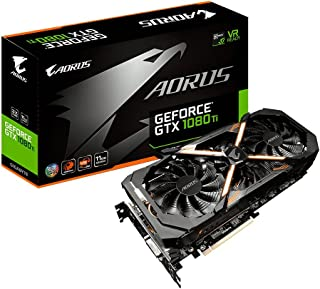 GIGABYTE AORUS GTX 1080 Ti 11Gb  - Tarjeta gráfica (NVIDIA, GeForce GTX 1080 Ti 11Gb, 1708 MHz, 2-Way SLI)