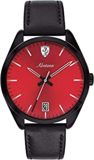 Ferrari Unisex-Adult Quartz Watch, Analog Display and Leather Strap 830499