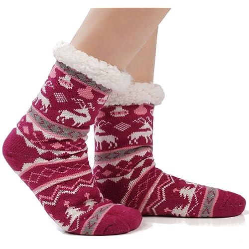 Women Socks Over Knee Deer Winter Warmth Personalized For Festive