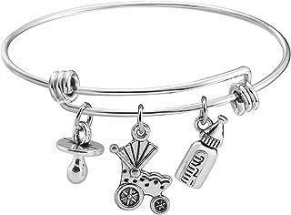 KUIYAI New Mother Bracelet Baby Charm Bracelet for Mommy to Be Gift