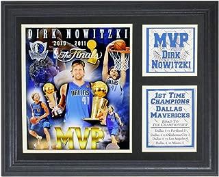 Encore Select 142-09 NBA Dallas Mavericks Deluxe Frame 2011 Finals MVP Dirk Nowitzki Print, 11-Inch by 14-Inch