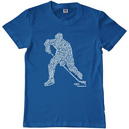 a8d71ca91 Threadrock Big Boys  Hockey Player Typography Design Youth T-Shirt