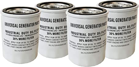 Universal Generator Parts Replacement Extended Life Oil Filter for 070185E and 070185ES (4 Pack)