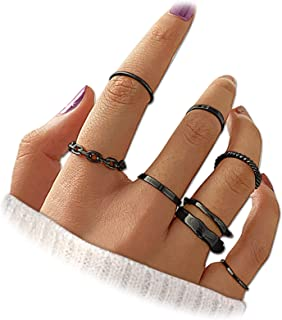 PARTNER Gold Knuckle Rings Set for Women Girls, 7 Pcs Vintage Gold Knuckle Stackable Rings Set, Trendy Simple Statement St...