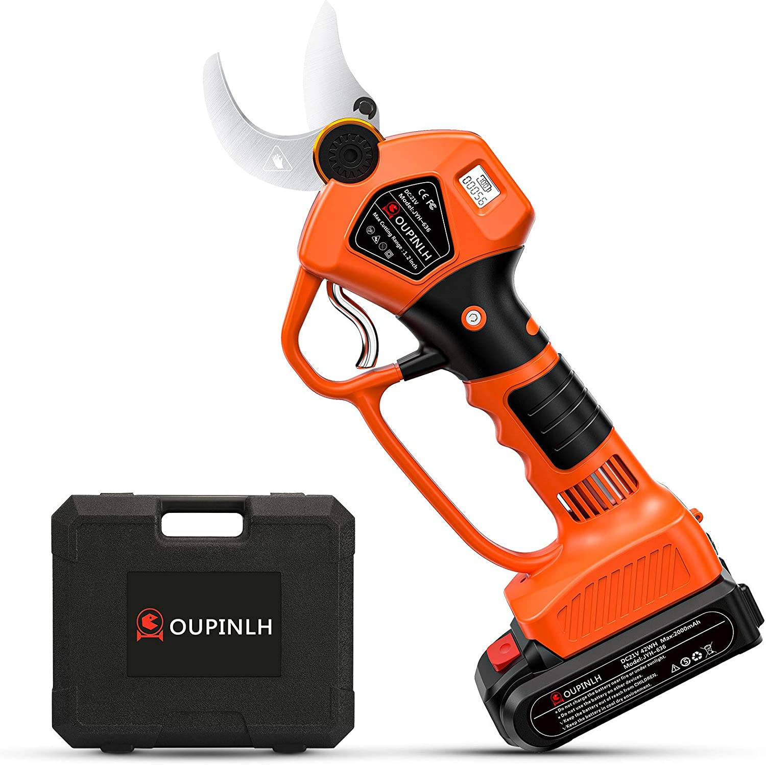 OUPINLH Electric Pruning Shears with 21V Battery Selling rankings 20 2PCS online shopping Lithium
