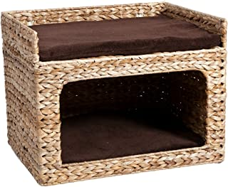 Karlie Flamingo 1030420 Cat Bed for Attaching to Wall, Banana Leaf Deluxe Dreambox II, 50 x 40 x 38 cm