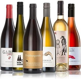 GEILE WEINE Weinpaket BURGUNDER-FAMILIE 6 x 0,75l Probierpaket mit Weissburgunder, Grauburgunder und Spätburgunder aus Deutschland und Frankreich